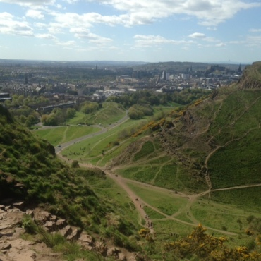 Before the descent from Arthur's Seat