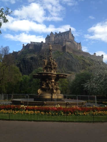 A view of the castle from Princes St gardens